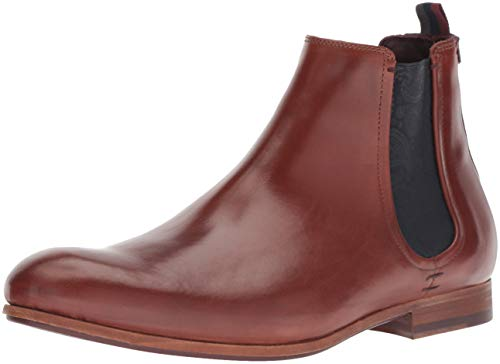 Image of Ted Baker Men's WHRON Chelsea Boot, tan Leather, 9.5 Medium US