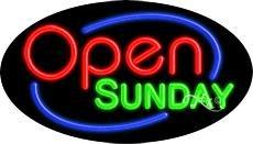 Open Sunday Flashing Neon Sign - 17'' x (Open Sunday Neon Sign)