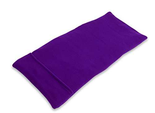 Sunny Bay XL Body Heating Pad, Whole Wheat Filled, Heat Therapy Pad for Sore Neck, Back & Shoulder Muscle Pain Relief-Reusable, Non-Electric Heat or Cold Compress, Washable Purple Fleece Cover