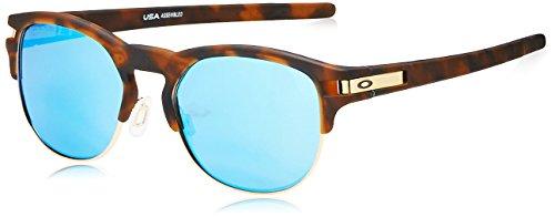 Oakley Men's Latch Key Polarized Iridium Round Sunglasses, MATTE BROWN TORTOISE, 52.0 ()