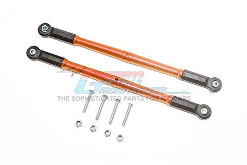 (GPM Losi 1:10 Baja Rey / Rock Rey Upgrade Parts Aluminum Adjustable Rear Upper Chassis Link Tie Rods - 1Pr Set Orange)