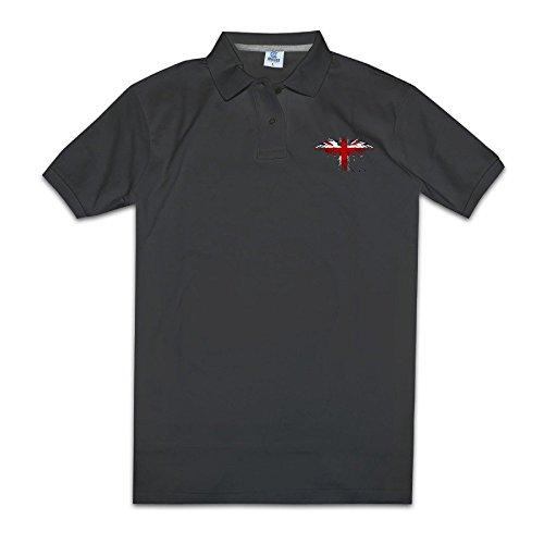 KONGYII Mens America Flag Sport Collar Shirt