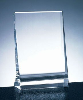 Optical Crystal Vertical Plaque Award - (Vertical Optical Crystal)