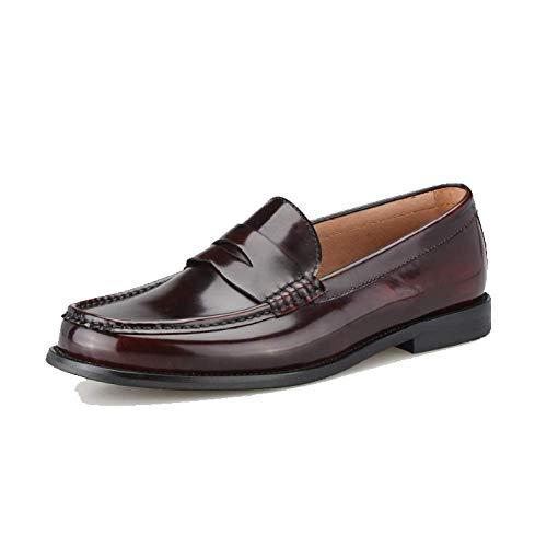 Stile Mocassini Red Scarpe Pigro Pelle Scarpe Britannico Autunnali Trend in Stile da Uomo Scarpe College 8rq8RS