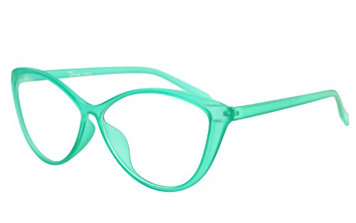 Agstum Ladies Womens Cat eye TR90 Glasses Frames Optical Eyeglasses 59mm (Green, - Cat Glasses Eye Green