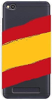 Funnytech® Funda Silicona para Xiaomi Redmi 4A [Gel Silicona Flexible, Diseño Exclusivo] Bandera España Transparente: Amazon.es: Electrónica