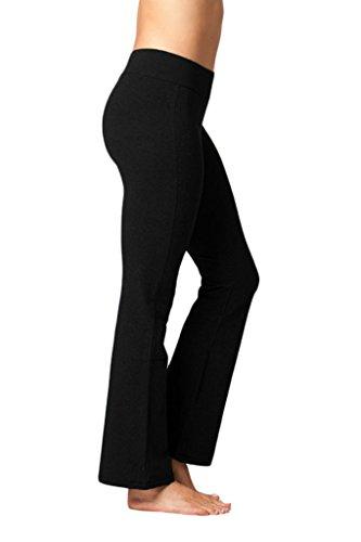 90 Degree By Reflex Cotton Boot Leg Yoga Pant - Black - Medium (90 Degree Boots)