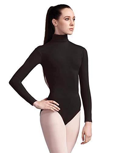 Capezio Women's Turtleneck Long Sleeve Leotard,Black,Medium