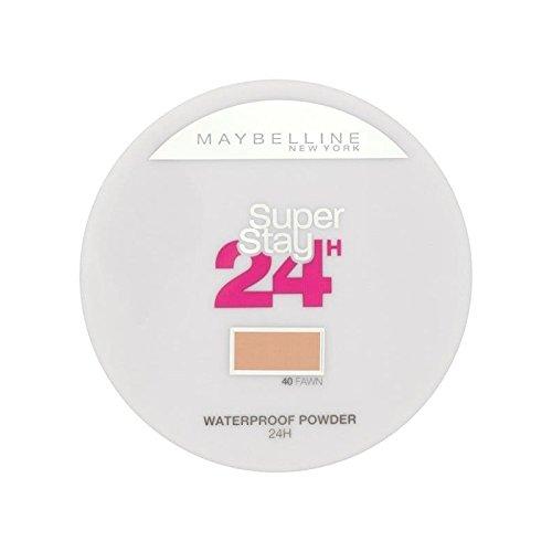 メイベリン24は、粉末040子鹿の9グラムを押します x4 - Maybelline SuperStay24H Pressed Powder 040 Fawn 9g (Pack of 4) [並行輸入品] B071V81R9X