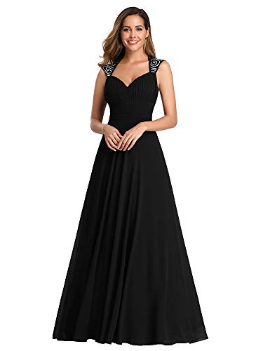 Ever-Pretty Womens Elegant Formal Long Mother of The Bride Dress 10 US Black