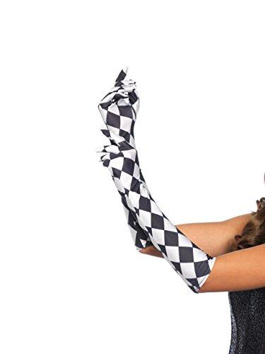Leg Avenue Womens Harlequin Gloves