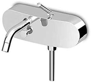 Zucchetti Isystick grifo para bañera con desviador y ducha de mano ZP1148-Cromo