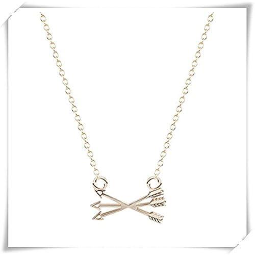 c6a3e46af7ba Europeo y americano collar de moda colgante de punta de flecha arco y  flecha collar Venta