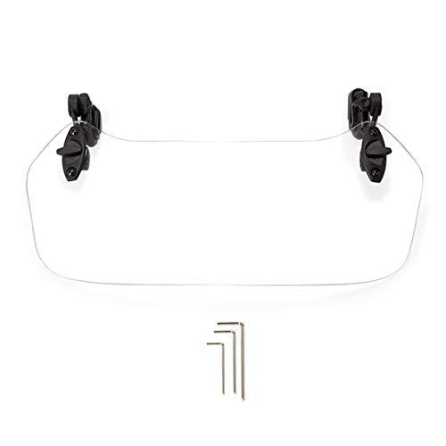 (Motorbike Wind Deflector, Universal Motorcycle Windshield, Motorcycle Clip-on Windscreen Extension Spoiler Waterproof Adjustable Deflector Safe Protector (37x13cm,Transparent))