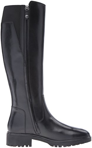 GEOX D Peaceful D stivale donna elastico PELLE BLACK NERO D640GD, Nero, 36