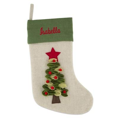 Things Remembered Personalized Felt Tree Stocking with Embroidery Included