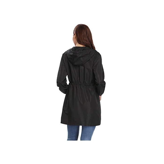 31GFC0QjuKL Multifunción Cortavientos de mujer:Anorak Mujer,característica con material impermeable y secado rápido, Puede ser resistente al viento, a la lluvia y a la nieve, cálido y hermético,también proporciona protección solar.Más es Transpirable, Skin-touch, Cómodo y cálido. Abrigo Impermeable para mujer :Es una chaqueta fina y muy impermeable, es ajustable a la cintura lo que hace que quede se ajuste al cuerpo todo lo que se quiera.Chubasquero Deporte Encapuchado Dobladillo de la gabardina está ajustado para mantenerlo caliente y resistente al viento. 100% Poliéster