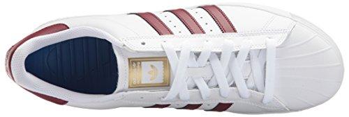 Adidas Originals Superstar Vulc Adv Schoenen Voor Heren Wit / Collegiaal Bordeaux Rood / Goud Metallic