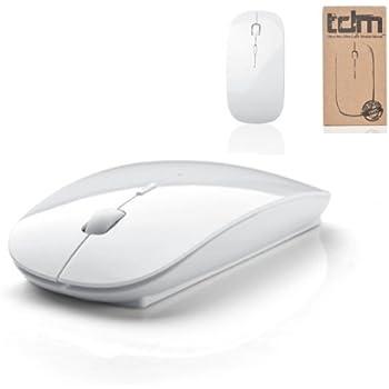 Tedim Ultra Slim/Small Wireless Optical Mouse for Apple Mac Book/Laptop - White