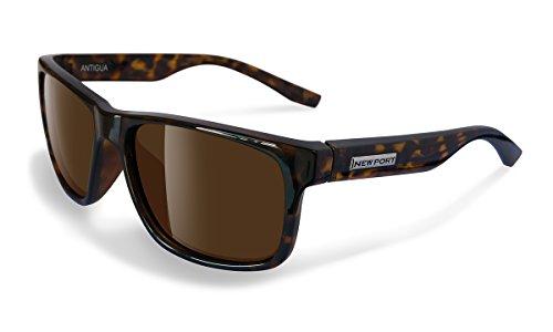 NEWPORT POLARIZED Sunglasses ANTIGUA Shiny Tort / Polarized Amber - Sunglasses Newport