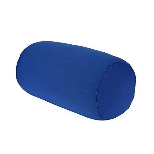 Kissen Reines zylindrisches Farbkissen, Schaumpartikelkissen, Büroschläfchenkissen,Rollkissen Home Seat Kopfstütze Nackenstütze Travel Micro Mini Microbead Kissen (Blau)