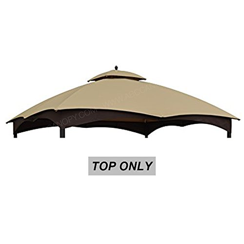 Universal Replacement Canopy - ABCCANOPY 10'x12' Replacement Canopy Gazebo Shelter Top Roof for the Lowe's 10' x 12' Gazebo Model #GF-12S004BTO Replacement Canopy Top (Beige)