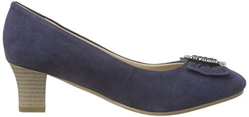Bergheimer Trachtenschuhe Luise, Women's Court Shoes Bleu (Navy)