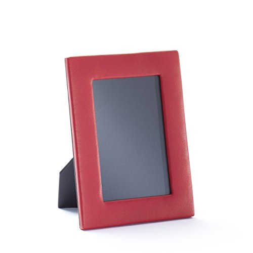 Leather Photo Grain (4X6 Portrait Photo Frame - Full Grain Leather Leather - Red Apple (red))