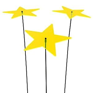 SUNPLAY Sonnenfänger Sterne Lisa in GELB, 3 Stück je 20 cm Durchmesser im Set...