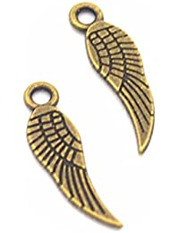 15 PCS Angel Wing Charms Angel Wing Pendants , Bronze, antique silver, gold
