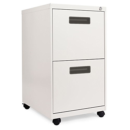 New – Two-Drawer Mobile Pedestal File, 15-7/8w x 19-3/4d x 28-1/4h, Light Gray by Alera