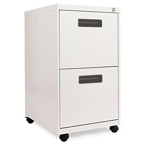 ALERA PA542820LG Two-Drawer Metal Pedestal File, 16w x 19-1/2d x 28-1/2h, Light Gray