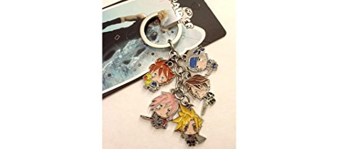 Final Fantasy Characters Charm Keychain 5 in 1