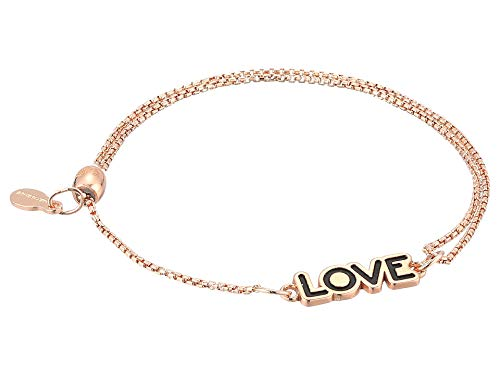 Alex and Ani Women's Love Pull Chain Bracelet, 14kt Rose Gold Plated, Expandable ()