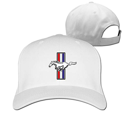 Censu Personalized Funny Ford Mustang Logo Adjustable \r\n Outdoor Sport Cap for Men Women,White