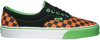 66df34d821 Vans Era (Checkerboard) Neon Orange Neon Green Black Shoe EWZ27B ...