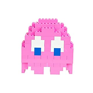 Strictly Briks Pac-Man & BANDAI NAMCO Entertainment Inc | Pac-Man Classic Briks Pinky Ghost - 116 Pieces Classic Briks 3D Build