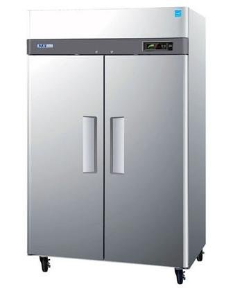 Turbo Air M3R472 47 cu.ft M3 Series Refrigerator with 2 Solid Doors Digital Temperature Control System Hot Gas Condensate System Efficient Refrigeration System and Stainless Steel Cabinet