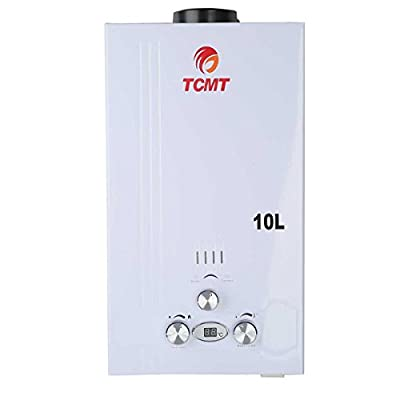 TC-Home Instant Hot Water Heater 10L Propane Gas Bath House Tankless Boiler Digital
