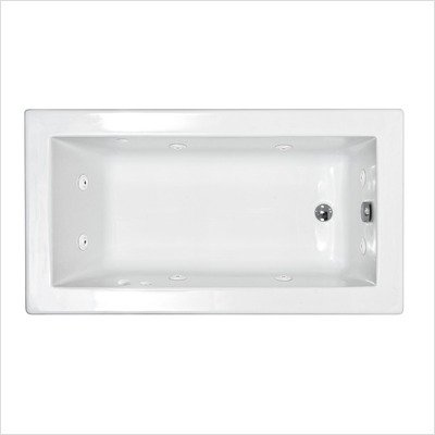 Guadeloupe 30 x 60 x 23'' Rectangular Whirlpool Jetted Bathtub Color/Trim: White / Brushed Nickel, Options: Front Skirt Enclosure