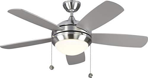 Classic Silver Ceiling Fan - Monte Carlo 5DIC44BSD-V1 44