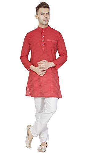 3748d2f56fc Indian Kurta Pajama for Men Cotton Long Sleeve Shirt Pyjama Set Wedding  Party Dress