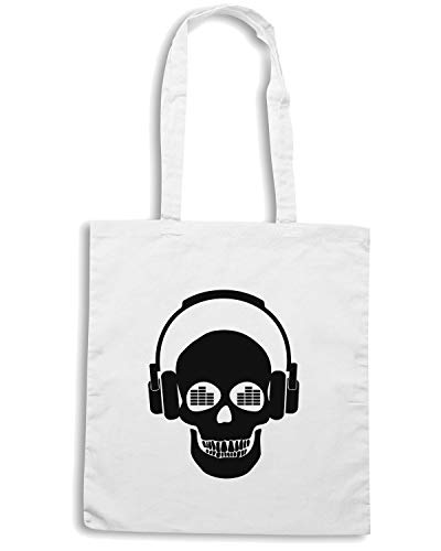 Bianca SKULL HEADPHONES Borsa WES0556 DJ Shirt BIG Shopper MUSIC Speed ta8wfq8