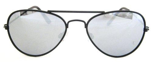 Pacific Sunglasses Coast Aviator (Kids Boys Girls Mirror Pilot Aviator Sunglasses Ages 3 - 8 (gunmetal))