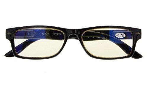 UV Protection,Reduce Eyestrain,Anti Blue Rays,Unisex Computer Reading Glasses