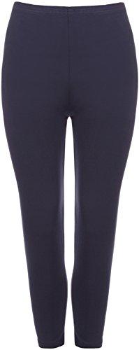 WearAll Plus Size Women's 3/4 Length Leggings - Navy Blue - US 24-26 (UK 28-30)