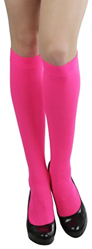 ToBeInStyle Women's Sexy Opaque Warm Knee High Long Socks Hosiery - Hotpink - One Size]()