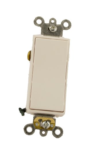 Leviton 5685-2W 15 Amp, 120/277 Volt, Decora Plus Rocker, Single-Pole Double Throw, Center Off, Maintained Contact, White ()