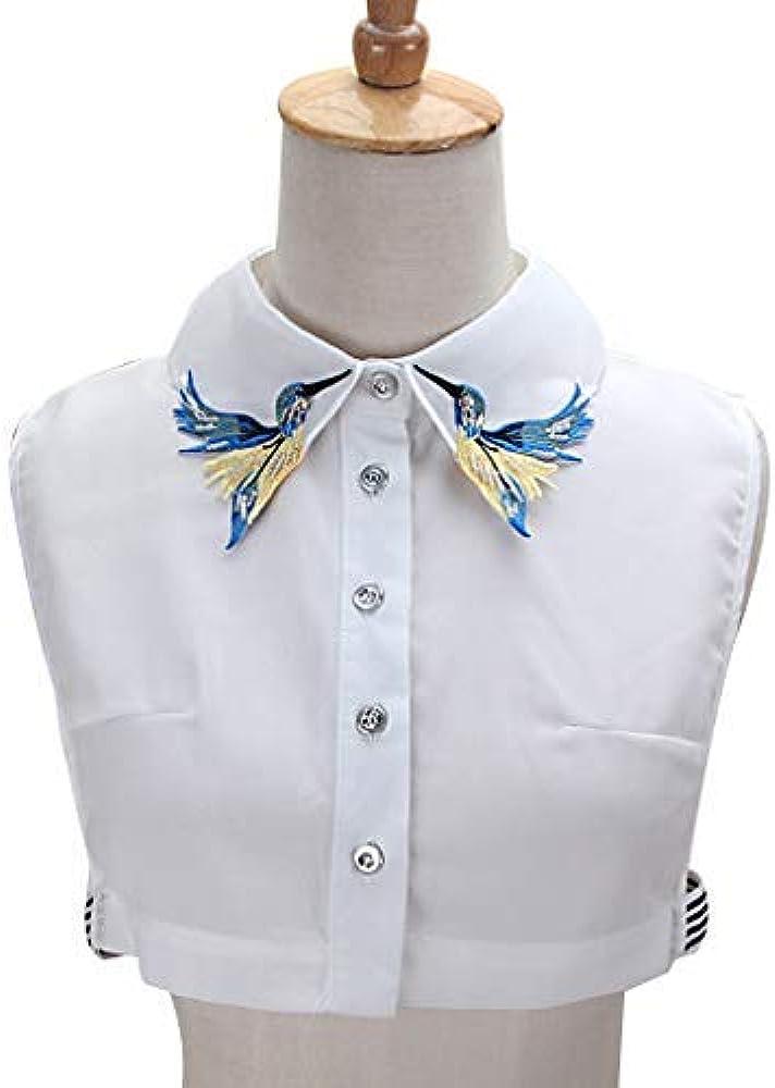 MI TU Camisa de Las Mujeres Falso Cuello Corbata de Moda Pesado ...
