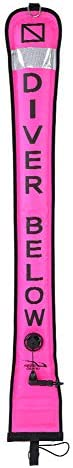 Diving Buoy Marker, High Visible Inflatable Scuba Diving SMB Surface Signal Marker Buoy 1.2m/1.5m/1.8m